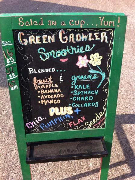 Green hippie smoothie