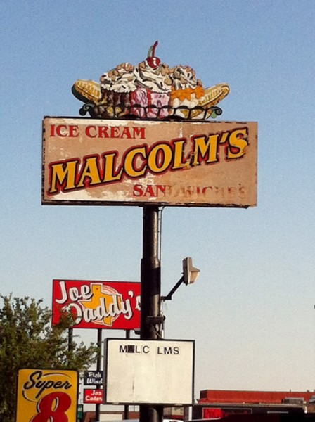 Malcolm's restaurant sign