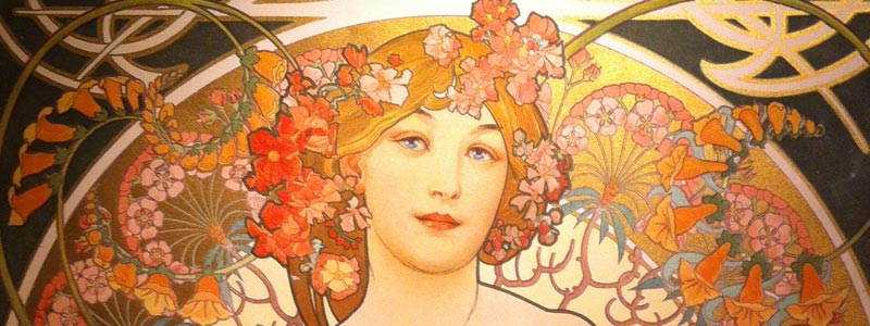 Alphone Mucha art in San Francisco