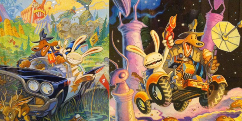Sam and Max comic artwork by Steve Purcell