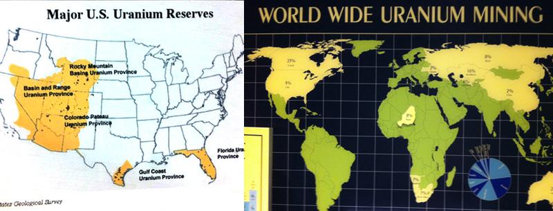 US Uranium Reserves and Uranium Reserves World Wide