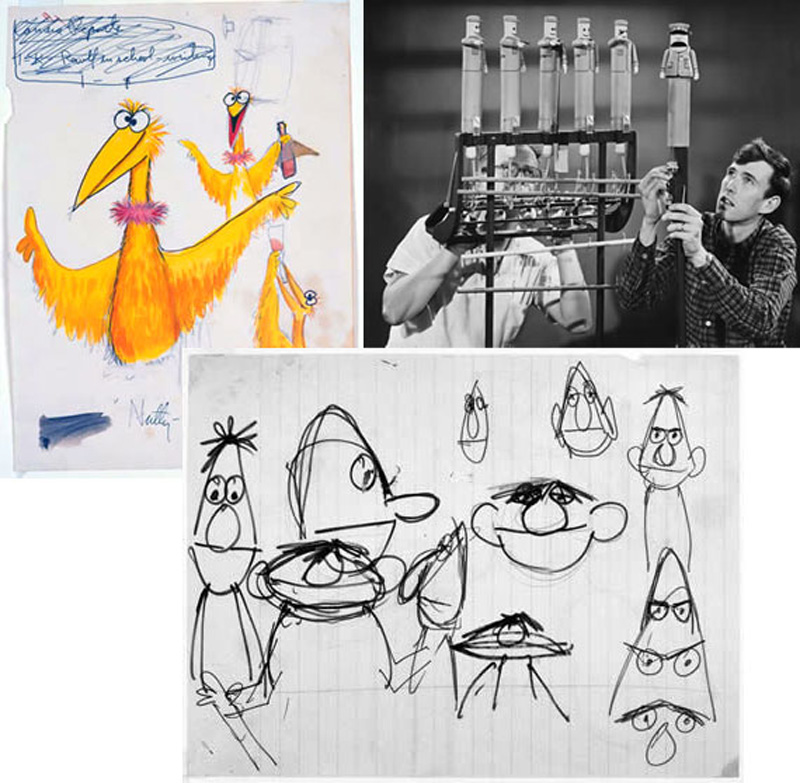 Early muppet sketches by Jim Henson