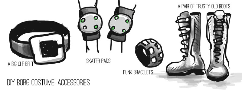 borg costume accessories